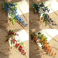 hastes de berry venda por atacado-Baga artificial hastes flores falsas azevinho bagas de natal dia das bruxas arranjos de flores para festivais e decoração de casa