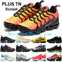 Wholesale cutting string resale online - Triple Black White Tn Plus designer shoes Mens Hyper Blue String Wolf Grey Black Running shoes womens white red reserve sunset sneakers