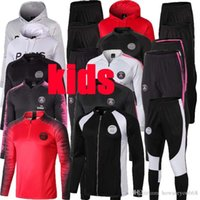 Wholesale new kid s sportswear resale online - kids PSG tracksuit new PSG KIDS soccer Training suit MBAPPE CAVANI maillot de foot Paris hoodie child Sportswear jacket kit