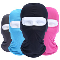 bonnet de vent achat en gros de-Outdoor Sports Neck Face Mask Solid Color Ski Snowboard Wind Beanie Cap Fashion Cycling Motorcycle Face Masks TTA1577