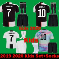 e960c4b065c Wholesale ronaldo jersey set for sale - 2020 Kids Juventus EA Ronaldo  DYBALA MARCHISIO Child Soccer