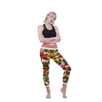 92d7f0bc580cd Lady Leggings Merry Christmas Pug 3D Graphic Full Printed Full Length Trousers  Girl Workout Pencil Pants Women Fitness Yoga Pants (Y600901)
