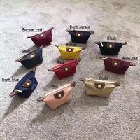 kadın moda markaları tasarımcısı el çantası toptan satış-Kadın naylon sikke çanta ünlü markalar tasarımcı kılıfı su geçirmez bayan sikke cep el çantası moda naylon dana bayan anahtar kese