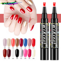 Wholesale nail art using uv gel for sale - Group buy WiRinef Colors In Nail Varnish Shining Glitter One Step Nail Art Gel Polish Pen Soak Off UV Lacquer Easy To Use