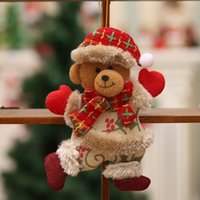 Wholesale bear christmas ornaments for sale - Group buy New Year Christmas decorations for home tree ornaments Cloth Doll Dancing Santa Claus Snowman Deer Bear Hanging Pendant Gift