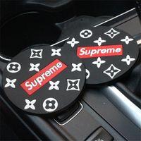 otomotiv süslemeleri toptan satış-Araba Su Bardağı Mat Otomotiv Bardak Yuvası Toz Geçirmez Kaygan Önlemek PVC Mat Kişilik Araba Iç Dekorasyon Makaleleri