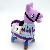 Wholesale hot 14 year old for sale - Group buy 2019 Hot Fortnite Game dolls cm Purple Alpaca Plush Toys Soft Plush Animals rainbow horse kids Christmas gift toys