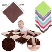 Wholesale foam puzzles resale online - Children s Carpet EVA Foam Shubu Puff Mat Puzzle Baby Game Mat Interlocking Sports Mats Baby Gym L0515