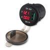 cargador de toma de corriente usb lg al por mayor-12v Coche Motocicleta Cargador USB QC 3.0 Cigarrillo encendedor Socket Adaptador de corriente Outlet Con voltímetro Amperímetro Barco Motor Camión ATV