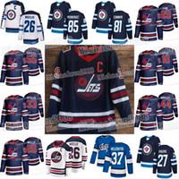 camisetas de hockey sobre patrimonio al por mayor-Jets de Winnipeg 2019 Heritage Classic Blake Wheeler BYFUGLIEN Patrik Laine Marcos Scheifele Bryan Little Connor Nikolaj Ehlers Morrissey jerseys