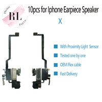 iphone ohrkabellautsprecher großhandel-10PCS Soem für iPhone X vorderes Ohr-Hörmuschel-Lautsprecherkopfhörer-hörendes Kabel-Flex mit Näherungslicht-Sensor geben Verschiffen frei