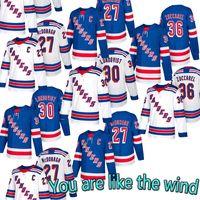 hockey jerseys оптовых-Трикотажные изделия New Hockey Jerseys New York Rangers 30 Хенрик Лундквист 36 Матс Цуккарелло 27 Райан МакДонах Нью-Йорк