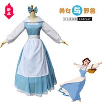 Wholesale cosplay costumes beauty beast for sale - Group buy Beauty And Beast Baer Blue Maid Clothes Diss What About Princess Longuette Cosplay Clothing Female Dress