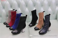 Wholesale various leather resale online - Women Abrasive leather boots with high heels of cm Heels Lady Boot with Made of genuine leather in various colors size
