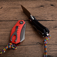 Wholesale razor knives for sale - Group buy Utility Little Folding Tactical Knife Black Red G10 Handle Sharp Razor Outdoor Gear Survival Hunting EDC Knives Camping Equipment P922M Y