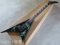 Wholesale high quality guitars factory resale online - High Quality New factory guitar Custom Black Flying V Electric Guitar