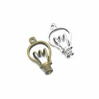 kolye lambası yapmak toptan satış-Charms 3 Stil Ampul Antik Yapma Kolye fit Vintage Tibet Gümüş DIY Bilezik Kolye Takı Aksesuarları