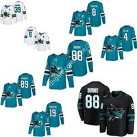 fecb1df6232 Men s 2019 San Jose Sharks Jersey 88 Brent Burns 8 Joe Pavelski 19 Joe  Thornton 42 Joel Ward 39 Logan Couture 9 Evander Kane hockey jerseys