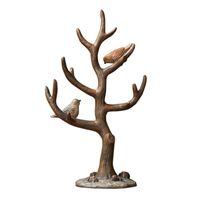 jóias árvore rack venda por atacado-Resina 2 Pássaros Galho De Árvore de Jóias Titular Organizador De Armazenamento de Rack de Chave de Suporte