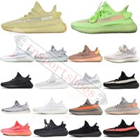 Wholesale basketball shoes glow green for sale - Group buy Shoes kanye west Running Shoes V2 GLOW STAR REFLECTIVE VANTA LUNDMARK ANTLIA SYNTH REFLECTIVE CLAY Designer Basketball Sneakers White Black