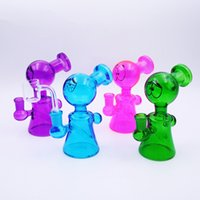 Wholesale eye glass pipe for sale - Glass Oil Rig Glass Bong Waterpipe quot Glass Eyes Dab Rig Smoking Pipes Mini Bongs With mm Quartz Banger Nail