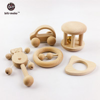 Wholesale montessori wooden puzzle resale online - Let s make Puzzle Toys Intellectual Children Montessori Toys Sets Nursing Wooden Rattles Baby Fun And Interesting Baby
