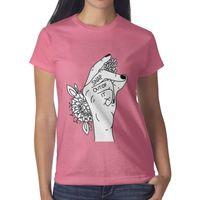 Wholesale arctic monkeys tee resale online - Arctic monkeys sticker FLOWER pink womens t shirt shirts t shirts tee shirts shirt design cool t superhero friends casual t shirt