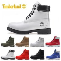 chaussures de neige pour hommes achat en gros de-luxury Timberland boots shoes Brand mens winter Snow boots womens men Military Triple White Black Camo Green sports sneakers 36-46