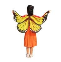 meninas de fantasia de asas de borboleta venda por atacado-Recém Design Borboleta Asas Pashmina Xaile Crianças Meninos Meninas Acessório Traje GB447