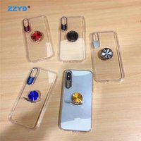 Wholesale auto focus cars resale online - ZZYD Auto Focus Clear Transparent Phone Case Cover With Magnetic Ring Car Holder case for ip pro max xs max xr