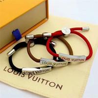 schmuck beliebt großhandel-Europa und die Vereinigten Staaten beliebte neue Mode Armband für Männer und Frauen, 316L Titan Stahl Brief Armband Schmuck