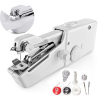 Wholesale machining operations resale online - Battery Operation Mini Sewing Machine Rotary And Horizontal Shuttle White Color Mini Electronic Portable Sewing Tools