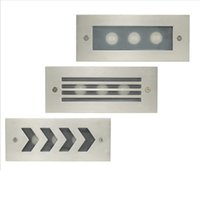 einbauleuchten großhandel-Wasserdichte 3W 6W AC85-265V Warme kalte weiße LED-Treppe / Schritt Licht vertiefte Wandleuchte für den Außenbereich