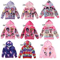 Wholesale character jackets for kid for sale - Group buy Cartoon Surprise Girls Zipper Coat Spring Autumn Hoodies Jacket Kids Sweatshirts Children Long Sleeve Hooded Top Coats For T A3126