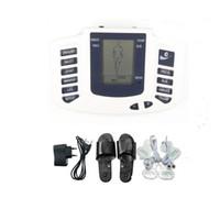 ingrosso terapia del massager di scossa elettrica-Electro Stimulation Foot Massager Slipper Terapia shock elettrico Massager completo del corpo Decine Macchina EMS Estim Regalo di assistenza sanitaria per la famiglia JR309