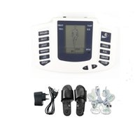 elektrik çarpması masaj terapisi toptan satış-Elektro Stimülasyon Ayak Masajı Terlik Elektrik Çarpması Tedavisi Tam Vücut Masajı Onlarca EMS Makinesi Estim Aile için Aile Bakım Hediye