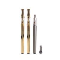 elektronische zigarettenautomatik großhandel-Gold / SS-Farbe Elektronische Zigarettenanzünder-Einweg-Einwegverdampfer vape Pen .5g AC1003 leerer Zerstäuber 280mAh Buttonless automatische Batterie