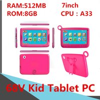 Wholesale tablet 7inch 8gb for sale - Group buy A33 V Children Computer inch Kid Tablet PC Capacitance Quad Core Android Dual Camera GB GB RAM MB GB ROM WIFI Bluetooth DHL Free