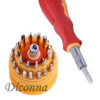 conjunto de chaves de fenda mini torx venda por atacado-Novos 31 multi pequeno precisão Hex Torx Estrelas Mini chave de fenda Set Bits Repair Tool Kit