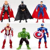 süpermen demir adam hulk batman toptan satış-1 adet Demir Adam Hulk Superman Batman Avengers Kaptan Amerika Süper Kahraman Thor oyuncak
