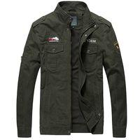ingrosso cappotto di colore khaki-Cargo Giacche Uomo Casual Jacket Tinta unita Tattiche Coat Uomo 2019 Fashion Spring Uomo Giacca Coat Green Khaki HN07