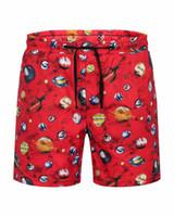 Wholesale create print online – design Designer creates original shorts summer shorts brand men s beach pants planet galaxy fashion luxury clothing planet pants knee length pants