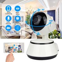 безопасность видений оптовых-Wi-Fi IP-камера видеонаблюдения 720P HD ночного видения двухстороннее аудио беспроводная видеокамера видеонаблюдения радионяня система домашней безопасности