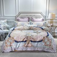 Wholesale egyptian cotton sheets resale online - Bohemia Egyptian Cotton Flat Bed sheet Duvet Cover Fitted sheet Queen King Bedding Set Bed set parure de lit ropa de cama CJ191203