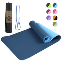 Wholesale yoga mat carry bag resale online - 72x24IN Non slip Yoga Mat TPE Eco Friendly Fitness Pilates Gymnastics Mat Gift Carrying Strap and Storage Bag yoga accessories