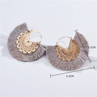 Wholesale tassel earring hoop for sale - Group buy New Big Hoop Tassel Earrings for women Fashion hoops earrings women accessories