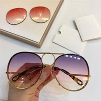 eb6facb3011b Wholesale interchangeable lenses sunglasses online - New fashion designer  women s sunglasses pilot metal frame interchangeable