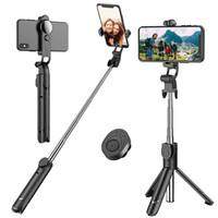 tripé vara venda por atacado-Selfie Stick, Tripé Selfie Stick Extensível com Remoto Sem Fio Destacável e Tripé Stand Selfie Stick para iPhone X / iPhone 8/8 Plus