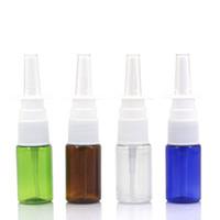 ingrosso pompa vuota di plastica spray-10ml di plastica vuote spray nasale Pompe bottiglia Mini 10cc nasali atomizzatori 1/3 oz Spray Applicatori RRA2365