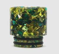 Wholesale drip tips sale resale online - Hot sale Best Price Factory Diamond thread resin drip tip for tfv12 tfv8 tank